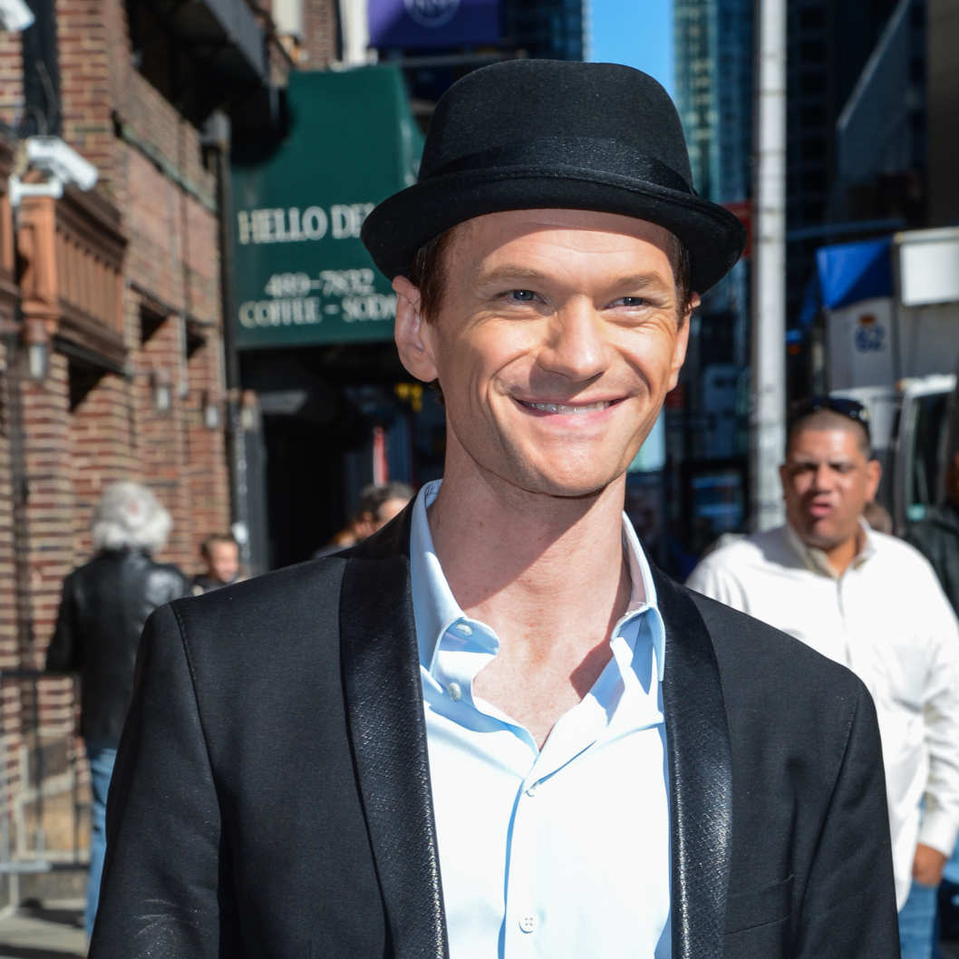 "NEW YORK, NY - APRIL 24:  Actor Neil Patrick Harris leaves the ""Late Show With David Letterman"" taping at the Ed Sullivan Theater on April 24, 2014 in New York City.  (Photo by Ray Tamarra/WireImage)"