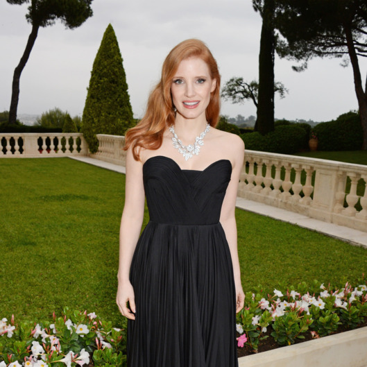 CAP D'ANTIBES, FRANCE - MAY 22:  Jessica Chastain attends amfAR's 21st Cinema Against AIDS Gala presented by WORLDVIEW, BOLD FILMS, and BVLGARI at Hotel du Cap-Eden-Roc on May 22, 2014 in Cap d'Antibes, France.  (Photo by Dave M. Benett/amfAR14/WireImage)