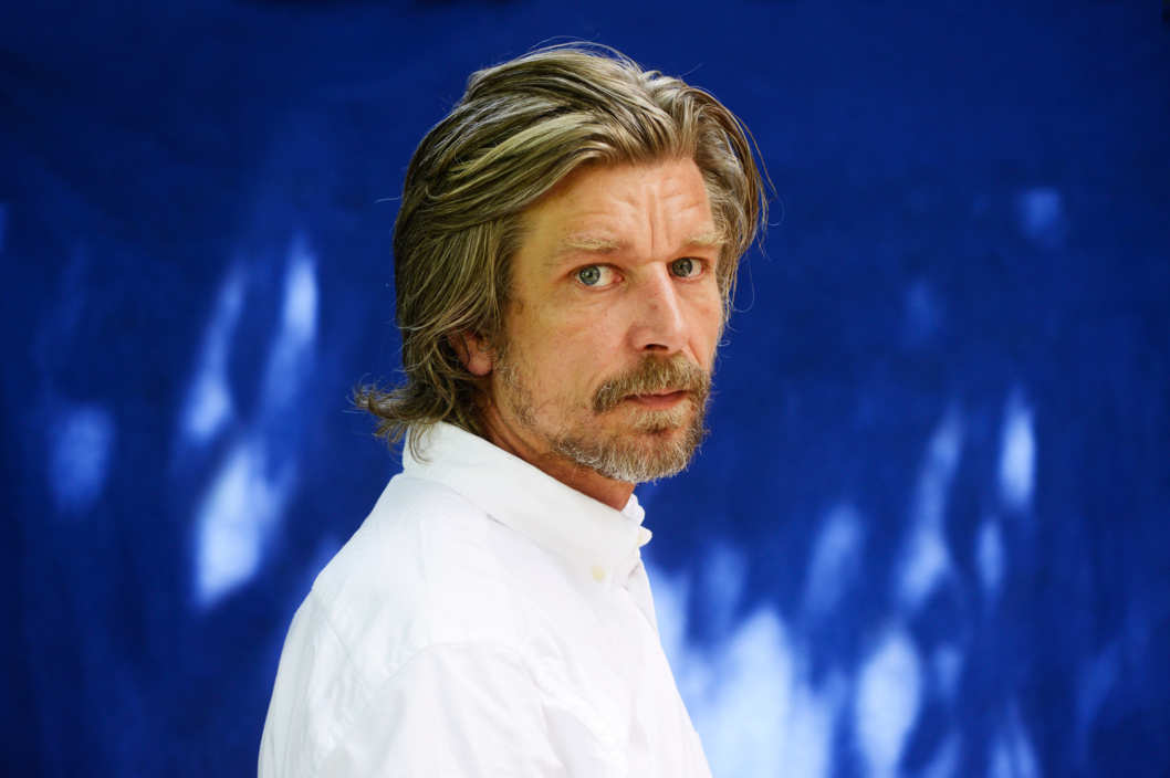Norwegian writer Karl Ove Knausgaard poses during a portrait session held on May 28, 2012 in Paris, France.