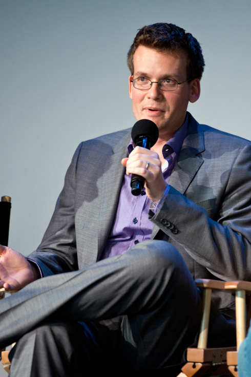 "NEW YORK, NY - JUNE 01: Author John Green attends ""Meet The Filmmakers"" at Apple Store Soho on June 1, 2014 in New York City.  (Photo by Noam Galai/WireImage)"