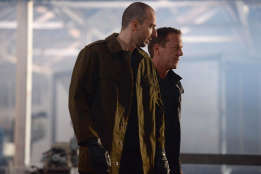 "24:  LIVE ANOTHER DAY:  Jack (Kiefer Sutherland, R) and Belcheck (guest star Branko Tomovic, L) decide their next move in the ""5:00 PM - 6:00 PM"" episode of 24:  LIVE ANOTHER DAY airing Monday, June 9 (9:00-10:00 PM ET/PT) on FOX.  ©2014 Fox Broadcasting Co.  Cr:  Daniel Smith/FOX"