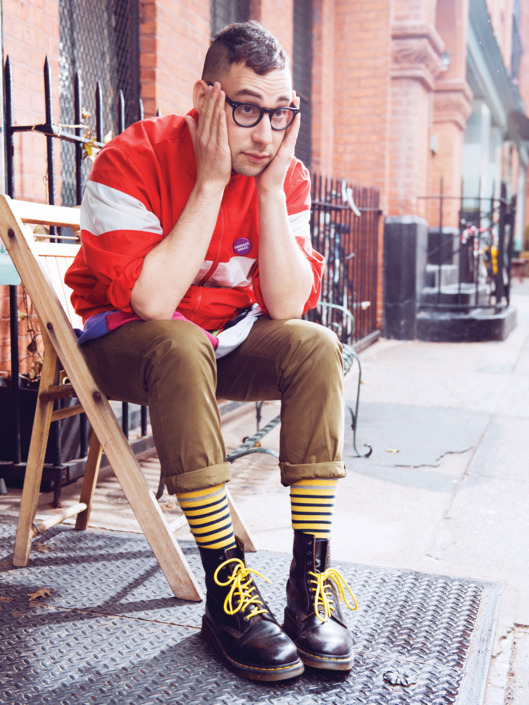 Jack Antonoff at Iris cafe in Brooklyn