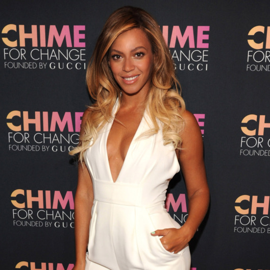 NEW YORK, NY - JUNE 03:  Beyonce attends the CHIME FOR CHANGE One-Year Anniversary Event hosted by Gucci Creative Director Frida Giannini and T Magazine Editor-In-Chief Deborah Needleman at Gucci Fifth Avenue on June 3, 2014 in New York City.  (Photo by Kevin Mazur /Chime For Change/Getty Images for Gucci/Getty Images for Gucci)