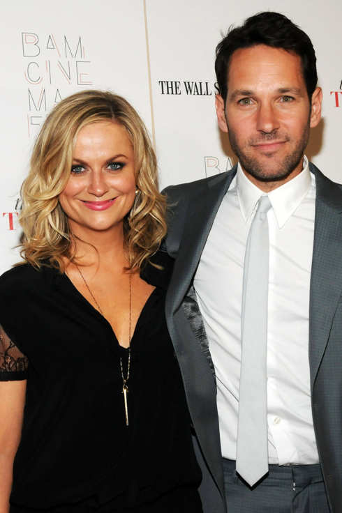 "NEW YORK, NY - JUNE 23: Actors Amy Poehler (L) and Paul Rudd attend the ""They Came Together"" screening during the BAMcinemaFest 2014 at BAM Harvey Theater on June 23, 2014 in New York City.  (Photo by Desiree Navarro/WireImage)"