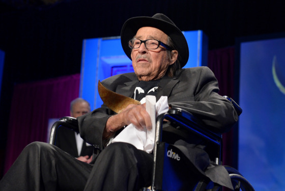 Paul Mazursky accepts the 2014 Screen Laurel Award onstage during the 2014 Writers Guild Awards L.A. Ceremony at J.W. Marriott at L.A. Live on February 1, 2014 in Los Angeles, California.