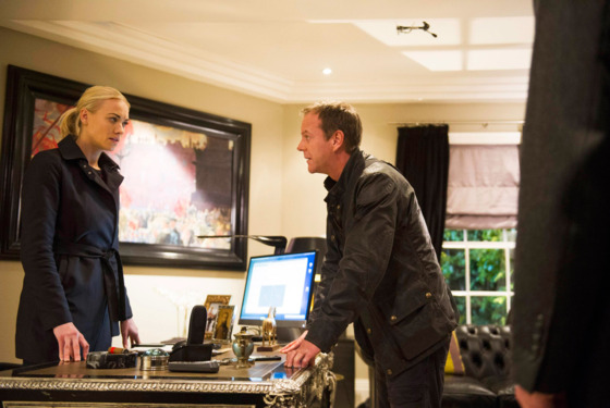 "24: LIVE ANOTHER DAY:  Jack (Kiefer Sutherland, R) and Kate (Yvonne Strahovski, L) search for information to locate Cheng in the ""10:00 PM - 11:00 AM"" Event Series Finale episode of 24: LIVE ANOTHER DAY airing Monday, July 14 (9:00-10:00 PM ET/PT) on FOX.   ©2014 Fox Broadcasting Co.  Cr:  Daniel Smith/FOX"