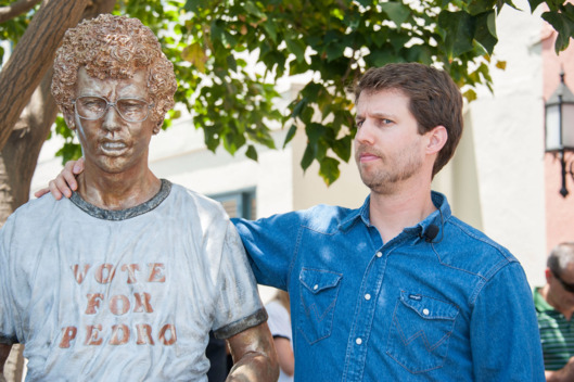 "CENTURY CITY, CA - JUNE 09:  Actor Jon Heder attends the Fox Searchlight Pictures & Twentieth Century Fox Home Entertainment Celebrates ""Napoleon Dynamite"" 10th Anniversary With Statue Dedication at Fox Studio Lot on June 9, 2014 in Century City, California.  (Photo by Valerie Macon/Getty Images)"