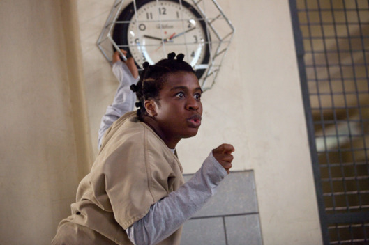 "Uzo Aduba in a scene from Netflix's ""Orange is the New Black"" Season 2. Photo credit: Jessica Miglio for Netflix"