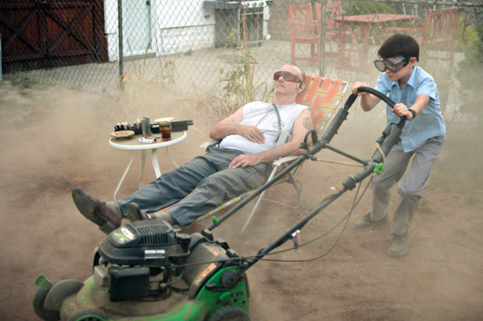 (L-R) BILL MURRAY and JAEDEN LIEBERHER star in ST. VINCENT