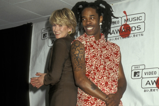 Martha Stewart and Busta Rhymes during 1997 MTV Video Music Awards at Radio City Music Hall in New York City, New York, United States. (Photo by Ron Galella/WireImage)