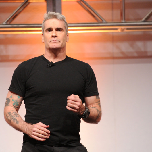 NEW YORK, NY - MAY 08:  Henry Rollins speaks onstage at the 2014 A+E Networks Upfront on May 8, 2014 in New York City.  (Photo by Bryan Bedder/Getty Images for A+E Networks)