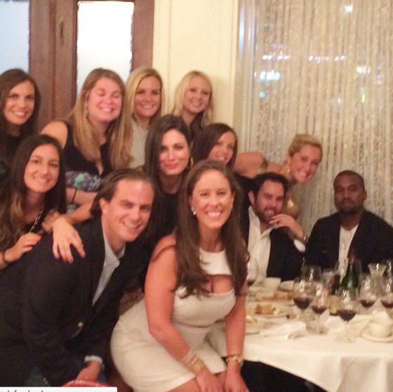 Kanye West buys champagne for a lucky bunch
