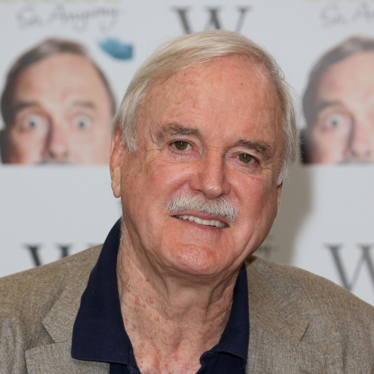 LONDON, ENGLAND - OCTOBER 09:  John Cleese meets fans and signs copies of his book 'So Anyway..' at Waterstone's, Piccadilly on October 9, 2014 in London, England.  (Photo by Mike Marsland/WireImage)