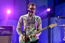 LAS VEGAS, NV - SEPTEMBER 20:  Recording artist Rivers Cuomo of the music group Weezer performs onstage during the 2014 iHeartRadio Music Festival at the MGM Grand Garden Arena on September 20, 2014 in Las Vegas, Nevada.  (Photo by Kevin Winter/Getty Images for iHeartMedia)