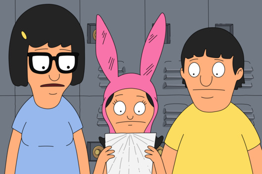 "BOB'S BURGERS: Just as her hopes of winning the school election seem lost, Louise gets a note that could turn the vote in her favor in the all-new "" The Millie-churian Candidate"" episode of BOB'S BURGERS airing Sunday, Feb. 15 (9:30-10:00 PM ET/PT) on FOX. BOB'S BURGERS ? and ? 2015 TCFFC ALL RIGHTS RESERVED."