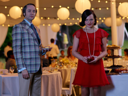 Vincent Kartheiser as Pete Campbell and Elisabeth Moss as Peggy Olson - Mad Men _ Season 7B, Gallery _ Photo Credit: Frank Ockenfels 3/AMC