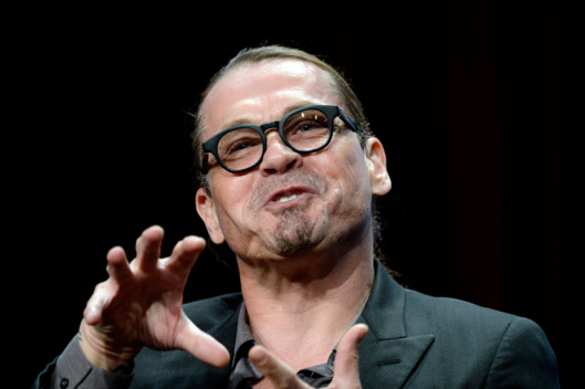 "22 Jul 2014, Beverly Hills, California, USA --- Kurt Sutter, creator and executive producer of the drama series ""Sons of Anarchy"", participates in a panel discussion during FX Networks' portion of the 2014 Television Critics Association Cable Summer Press Tour in Beverly Hills, California July 21, 2014. REUTERS/Kevork Djansezian (UNITED STATES - Tags: ENTERTAINMENT) --- Image by ? KEVORK DJANSEZIAN/Reuters/Corbis"