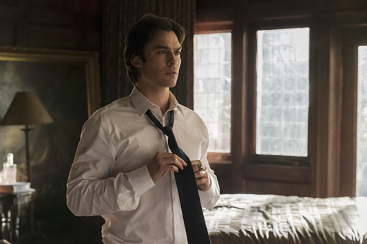 "The Vampire Diaries -- ""Let Her Go"" Ian Somerhalder as Damon."