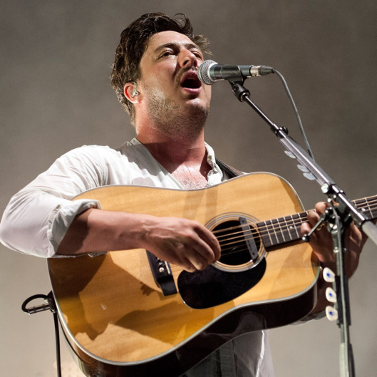 NEW ORLEANS, LA - SEPTEMBER 16:  Marcus Mumford of Mumford & Sons performs at Mardi Gras World on September 16, 2013 in New Orleans, Louisiana.  (Photo by Erika Goldring/Getty Images)