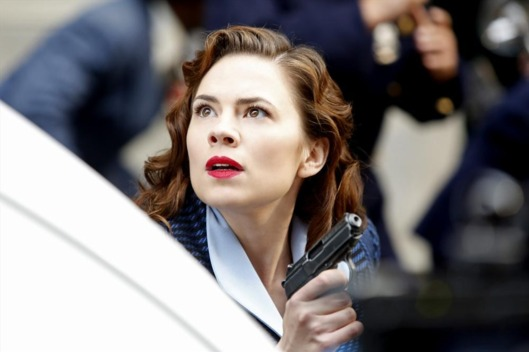 "MARVEL'S AGENT CARTER - ""Valediction"" - Peggy faces the full fury of Leviathan, as Howard Stark makes his return in the explosive season finale of ""Marvel's Agent Carter,"" TUESDAY, FEBRUARY 24 (9:00-10:00 p.m., ET) on the ABC Television Network. (ABC/Kelsey McNeal)HAYLEY ATWELL"