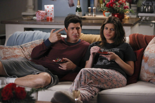 "MARRY ME -- ""Change Me"" Episode 115 -- Pictured: (l-r) Ken Marino as Jake, Casey Wilson as Annie -- (Photo by: Vivian Zink/NBC)"
