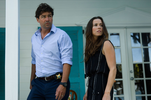 Kyle Chandler (John Rayburn) and Linda Cardellini (Meg Rayburn) in the Netflix Original Series BLOODLINE.  Photo Credit: Saeed Adyani  ? 2014 Netflix, Inc. All Rights Reserved.