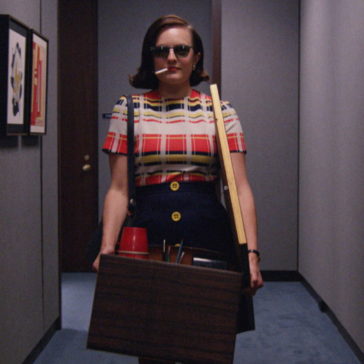 Elisabeth Moss as Peggy Olson - Mad Men _ Season 7B, Episode 12 - Photo Credit: Courtesy of AMC