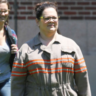 """Exclusive... Melissa McCarthy Debuts Her Uniform For """"Ghostbusters""""  **NO INTERNET USE WITHOUT PRIOR AGREEMENT**"""