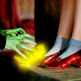 Dorothy Ruby Red Shoes Off The Witch Of The East