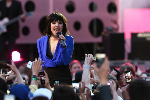 Carly Rae Jepsen performs at the 2015 Much Music Video Awards at MuchMusic on Queen Street West in Toronto.