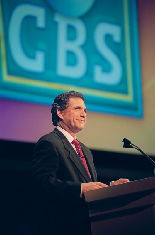 Leslie Moonves at the CBS Upfront presentation, New York, NY. Image dated May 20, 1998. Copyright © 1998 CBS Broadcasting Inc. All Rights Reserved. Credit: John Paul Filo. File: 87661_2_7