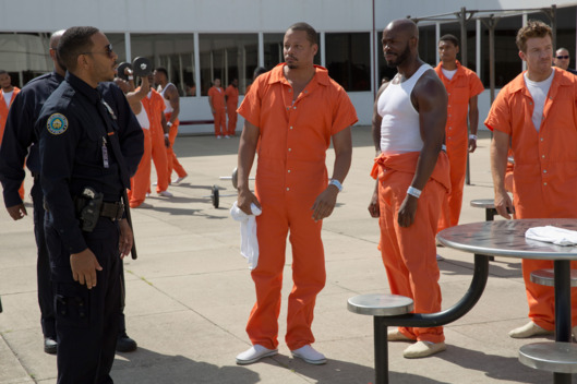 "EMPIRE: Pictured L-R: Guest star Ludacris (Chris Bridges) as Officer McKnight and Terrence Howard as Lucious Lyon in the ""Without A Country"" episode of EMPIRE airing Wednesday, Sept. 30 (9:00-10:00 PM ET/PT) on FOX. ©2015 Fox Broadcasting Co. Cr: Chuck Hodes/FOX."