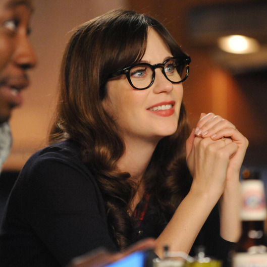 "NEW GIRL:   Jess (Zooey Deschanel) in the ""Panty Gate"" episode of NEW GIRL airing Tuesday, April 28 (9:00-9:30 PM ET/PT) on FOX.  ©2015 Fox Broadcasting Co.  Cr:  Ray Mickshaw/FOX"