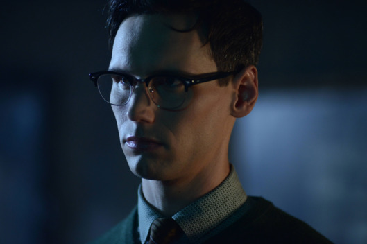 "GOTHAM: L-R: Cory Michael in the ""Rise of the Villains: A Bitter Pill to Swallow"" episode of GOTHAM airing Monday, Nov. 16 (8:00-9:00 PM ET/PT) on FOX. ©2015 Fox Broadcasting Co. Cr: Nicole Rivelli/ FOX"