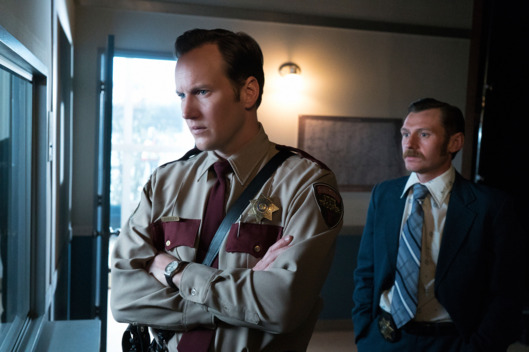 "FARGO -- ""Did You Do This? No, you did it!"" -- Episode 207 (Airs Monday, November 23, 10:00 pm e/p) Pictured: (l-r) Patrick Wilson as Lou Solverson, Keir O'Donnell as Ben Schmidt. CR: Chris Large/FX"
