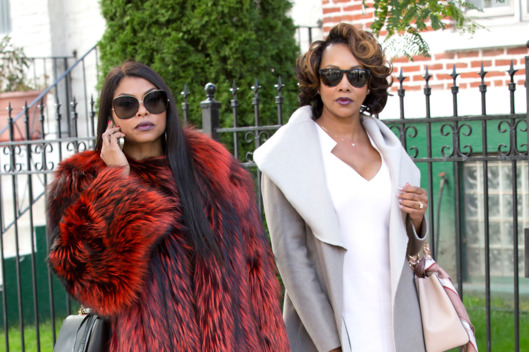 "EMPIRE: L-R: Taraji P. Henson and guest star Vivica A. Fox in the ""Sinned Against"" episode of EMPIRE airing Wednesday, Nov. 25 (9:00-10:00 PM ET/PT) on FOX. ©2015 Fox Broadcasting Co. Cr: Chuck Hodes/FOX."