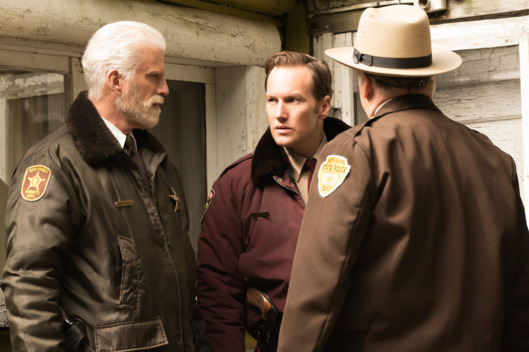 "FARGO -- ""The Castle"" -- Episode 209 (Airs Monday, December 7, 10:00 pm e/p) Pictured: (l-r) Ted Danson as Hank Larsson, Patrick Wilson as Lou Solverson.CR: Chris Large/FX"