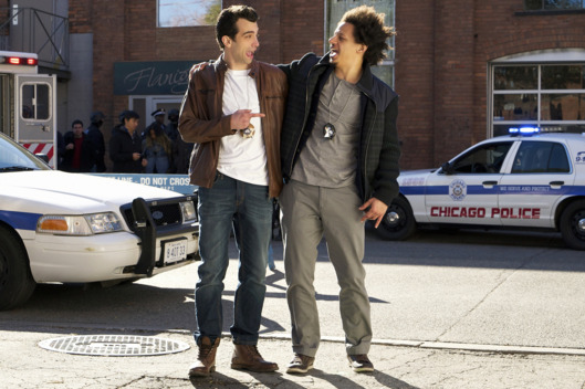 "MAN SEEKING WOMAN -- ""Scythe"" -- Episode 203 (Airs Wednesday, January 20, 10:30 pm e/p) Pictured: (l-r) Jay Baruchel as Josh, Eric Andre as Mike.CR: Michael Gibson/FX"