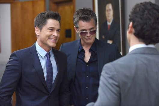 "THE GRINDER:  L-R:  Rob Lowe and guest star Timothy Olyphant in the ""Grinder V Grinder"" episode of THE GRINDER airing Tuesday, Feb. 2 (9:30-10:00 PM ET/PT) on FOX.  ©2016 Fox Broadcasting Co.  Cr:  Adam Taylor/FOX"