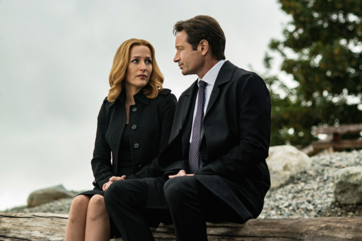 "THE X-FILES:   L-R:  Gillian Anderson and David Duchovny in the ""Home Again"" episode of THE X-FILES airing Monday, Feb. 8 (8:00-9:00 PM ET/PT) on FOX.  ©2016 Fox Broadcasting Co.  Cr:  Ed Araquel/FOX"