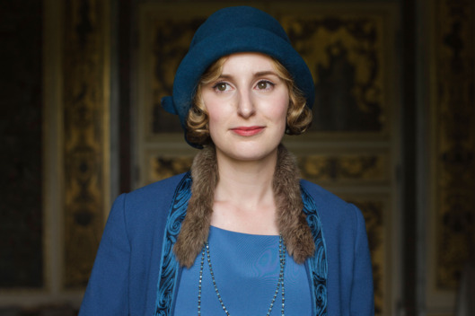 Downton AbbeySeries Finale Airs Sunday, March 6, 2016 on MASTERPIECE on PBS Shown: Laura Carmichael as Lady Edith (C) Nick Briggs/Carnival Film & Television Limited 2015 for MASTERPIECE This image may be used only in the direct promotion of MASTERPIECE CLASSIC. No other rights are granted. All rights are reserved. Editorial use only. USE ON THIRD PARTY SITES SUCH AS FACEBOOK AND TWITTER IS NOT ALLOWED.