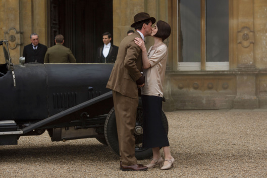 Downton Abbey, The Final SeasonMASTERPIECE on PBSSeries FinaleSunday, March 6, 2016 at 9pm ETAfter six passionate, thrilling, and poignant seasons, the curtain comes down on Downton Abbey. How will fate—and writer Julian Fellowes—resolve the stories of Edith, Mary, Thomas, Anna, Robert, Cora, Daisy, Carson, Violet, Isobel, and all the otheroccupants of an unforgettable house?Shown from left to right: Matthew Goode as Henry Talbot and Michelle Dockery as Lady Mary(C) Nick Briggs/Carnival Film & Television Limited 2015 for MASTERPIECE This image may be used only in the direct promotion of MASTERPIECE CLASSIC. No other rights are granted. All rights are reserved. Editorial use only. USE ON THIRD PARTY SITES SUCH AS FACEBOOK AND TWITTER IS NOT ALLOWED.
