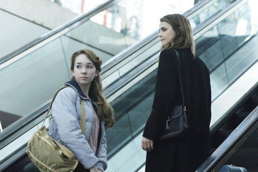 "THE AMERICANS -- ""March 8, 1983"" Episode 313 (Airs Wednesday, April 22, 10:00 PM e/p) Pictured: (l-r) Holly Taylor as Paige Jennings, Keri Russell as Elizabeth Jennings. CR: Patrick Harbon/FX"