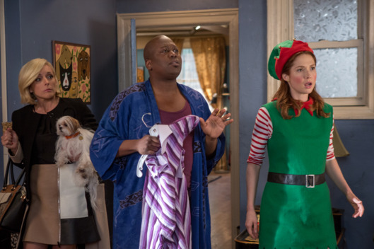 Jane Krakowski as Jacqueline, Tituss Burgess as Titus, Ellie Kemper as Kimmy.