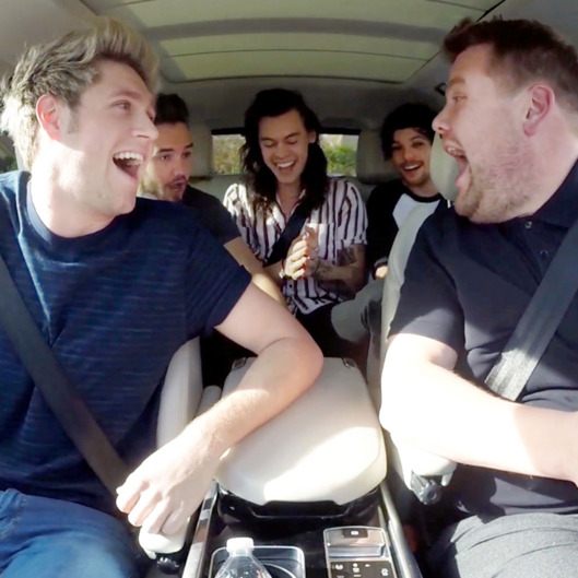 One Direction joins James Corden for Carpool Karaoke