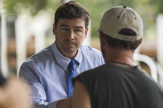 Kyle Chandler as John, Jamie McShane as Eric.