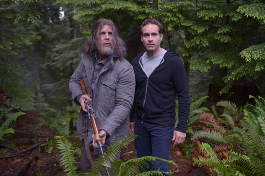 "WAYWARD PINES:  L-R:  Guest star Tim Griffin and Jason Patric in the ""Pass Judgment"" episode of WAYWARD PINES airing Wednesday, July 13 (9:00-10:00 PM ET/PT) on FOX.  ©2016 Fox Broadcasting Co.  Cr:  Sergei Bashlakov/FOX"