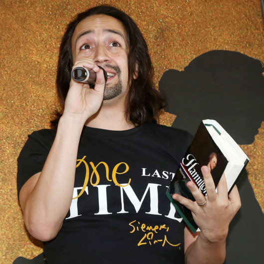 "Lin-Manuel Miranda Farewell ""Ham4Ham"" Performance At Hamilton Broadway Lottery"