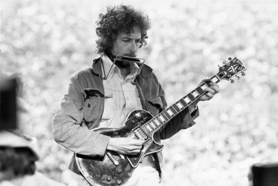 Singer/Songwriter Bob Dylan Performs at Kezar Stadium