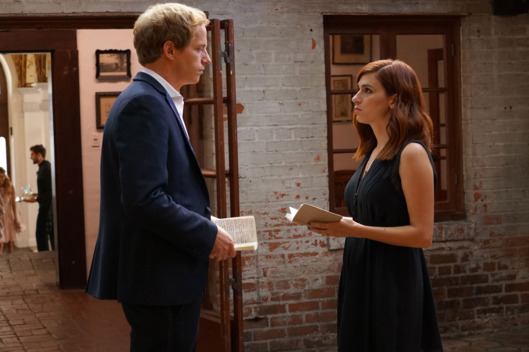 "YOU'RE THE WORST -- ""The Inherent, Unsullied, Qualitative Value of Anything"" -- Episode 311 (Airs Wednesday, November 9, 10:00 pm e/p -- Pictured: (l-r) Chris Geere as Jimmy Shive-Overly, Aya Cash as Gretchen Cutler. CR: Byron Cohen/FX"
